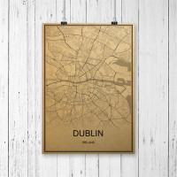 Dublin - Retro Bykart - Brun Rektangel
