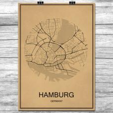 Hamburg - Retro Bykart - Brun