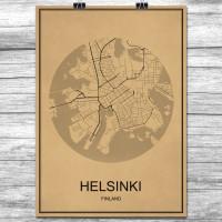 Helsinki - Retro Bykart - Brun