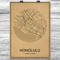 Honolulu - Retro Bykart - Brun