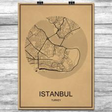 Istanbul - Retro Bykart - Brun