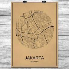 Jakarta - Retro Bykart - Brun