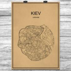 Kiev - Retro Bykart - Brun (Ver 2)