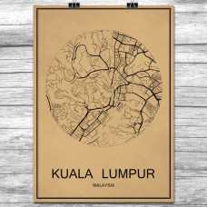 Kuala Lumpur - Retro Bykart - Brun