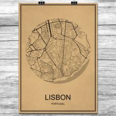 Lisboa - Retro Bykart - Brun