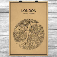 London - Retro Bykart - Brun