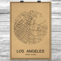 Los Angeles - Retro Bykart - Brun