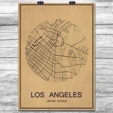 Los Angeles - Retro Bykart - Brun