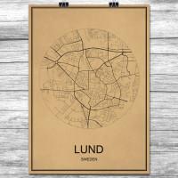 Lund - Retro Bykart - Brun