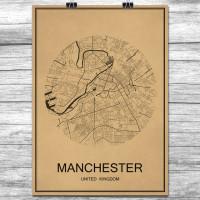 Manchester - Retro Bykart - Brun