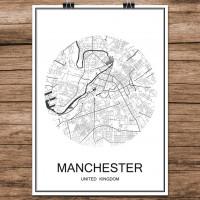 Manchester - Minimalist Bykart - Hvit