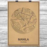 Manila - Retro Bykart - Brun