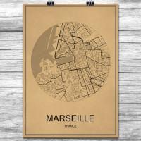 Marseille - Retro Bykart - Brun
