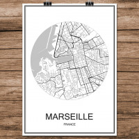 Marseille - Minimalist Bykart - Hvit