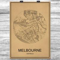 Melbourne - Retro Bykart - Brun