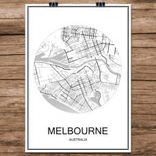 Melbourne - Minimalist Bykart - Hvit