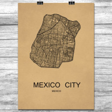 Mexico City - Retro Bykart - Brun (Ver 2)