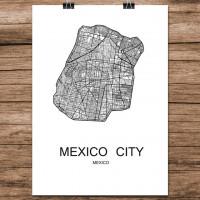 Mexico City - Minimalist Bykart - Hvit