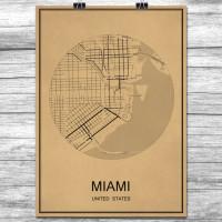 Miami - Retro Bykart - Brun