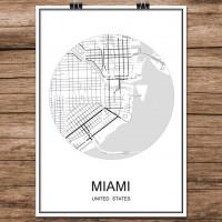 Miami - Minimalist Bykart - Hvit