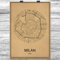 Milano - Milan - Retro Bykart - Brun