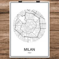 Milano - Milan - Minimalist Bykart - Hvit
