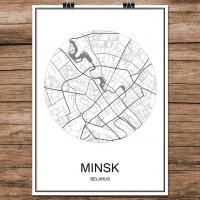 Minsk - Minimalist Bykart - Hvit