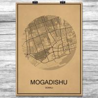 Mogadishu - Retro Bykart - Brun