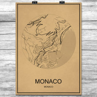 Monaco - Retro Bykart - Brun