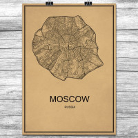 Moscow - Moskva - Retro Bykart - Brun (Ver 2)