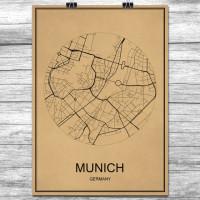 Munich - Munchen - Retro Bykart - Brun