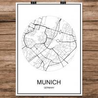 Munich - Munchen - Minimalist Bykart - Hvit