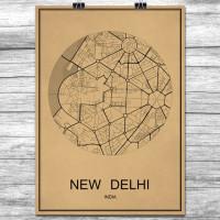 New Delhi - Retro Bykart - Brun