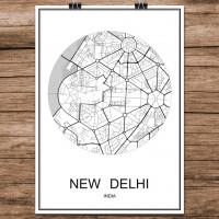New Delhi - Minimalist Bykart - Hvit