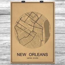 New Orleans - Retro Bykart - Brun