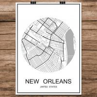 New Orleans - Minimalist Bykart - Hvit