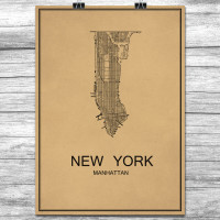 New York - Manhattan - Retro Bykart - Brun (Ver 2)
