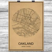 Oakland - Retro Bykart - Brun