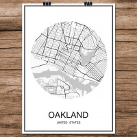 Oakland - Minimalist Bykart - Hvit