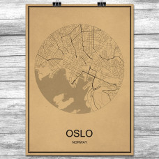 Oslo - Retro Bykart - Brun