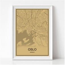 Oslo - Retro Bykart - Brun Rektangel
