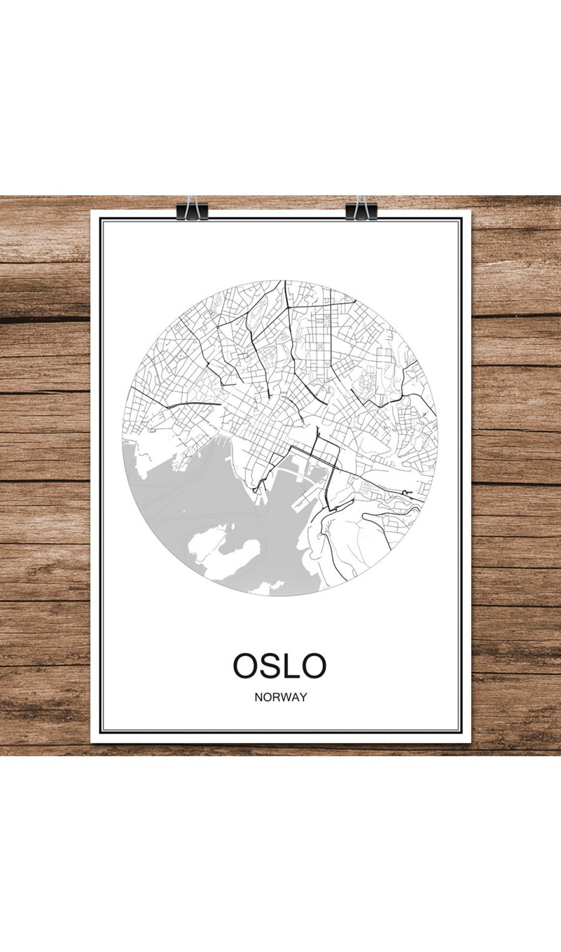 Oslo - Minimalist Bykart - Hvit