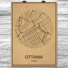 Ottawa - Retro Bykart - Brun
