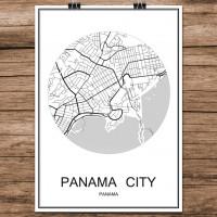 Panama City - Minimalist Bykart - Hvit