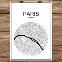 Paris - Minimalist Bykart - Hvit