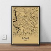 Roma - Rome - Retro Bykart - Brun Rektangel