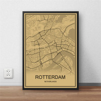 Rotterdam - Retro Bykart - Brun Rektangel