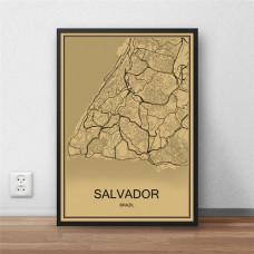Salvador - Retro Bykart - Brun Rektangel