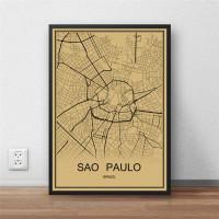 Sao Paulo - Retro Bykart - Brun Rektangel
