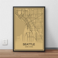 Seattle - Retro Bykart - Brun Rektangel